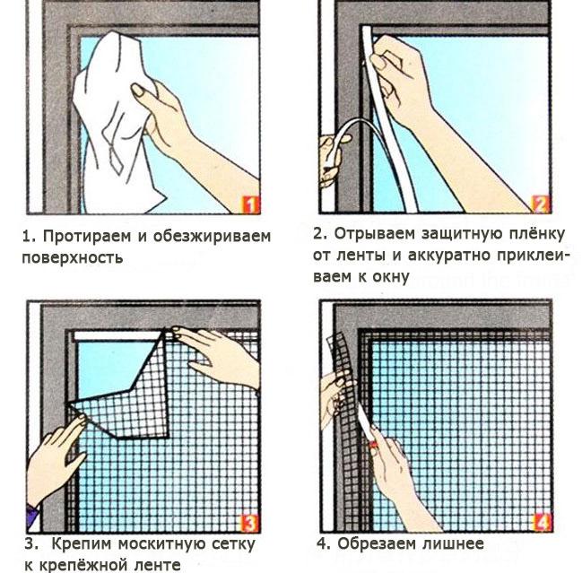 Своими руками москитная сетка для пластиковых окон